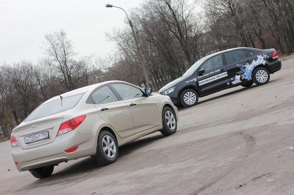 Хэндэ Solaris и Фольксваген Polo sedan
