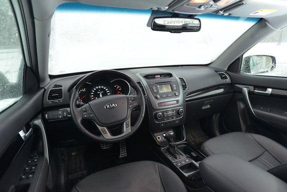 Тест-драйв нового Kia Sorento 2013 - передняя панель