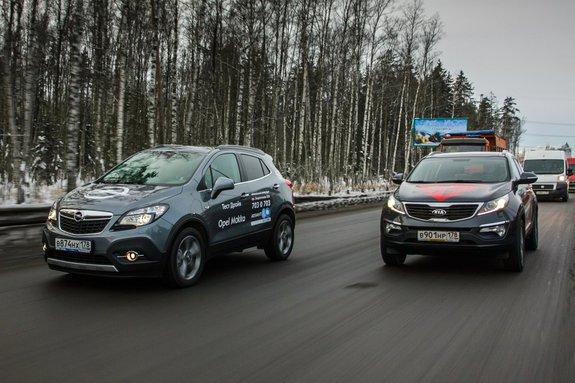 Опель Mokka и Kia Sportage