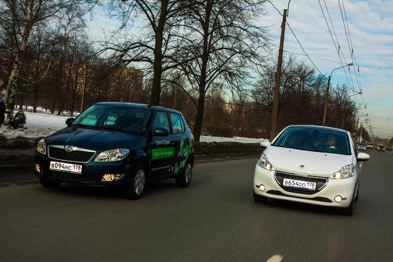Skoda Fabia и Peugeot 208