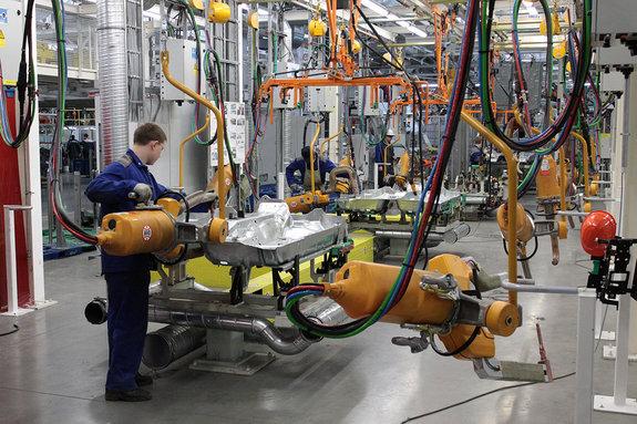 Совместное предприятие VW и ГАЗ: цех сварки