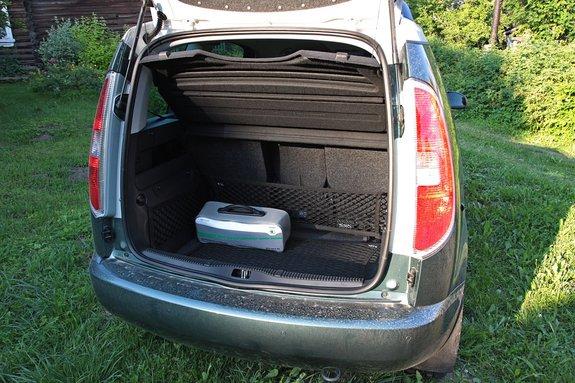 Skoda Roomster: багажное отделение