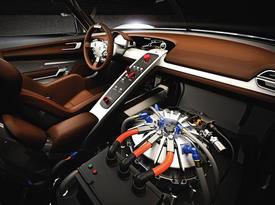 Porsche 918 RSR. Салон