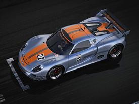 Porsche 918 RSR. Вид сверху